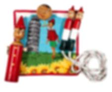 ピノキオセット(ミニタオル、縄跳び、貯金箱、ヨーヨー