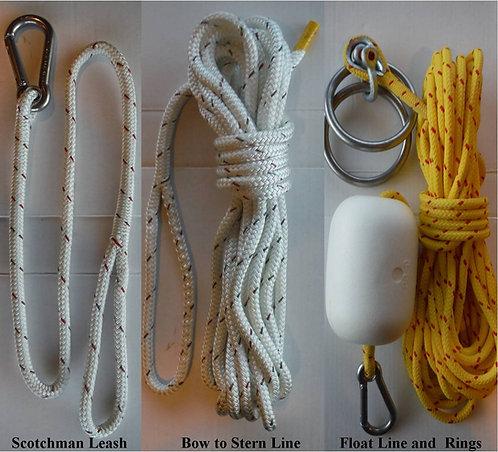 Halibut Anchoring Ring Sytem Assmbly- #1225