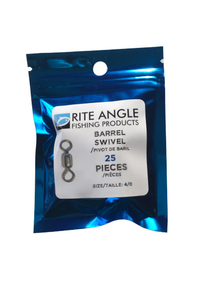Barrel Swivels - Size 4/0 - 25 pack