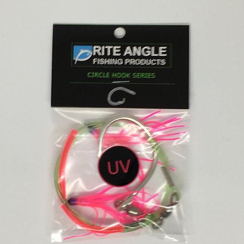 Circle Hook Series UV 210# Cable w UV Mini Skirts - #774
