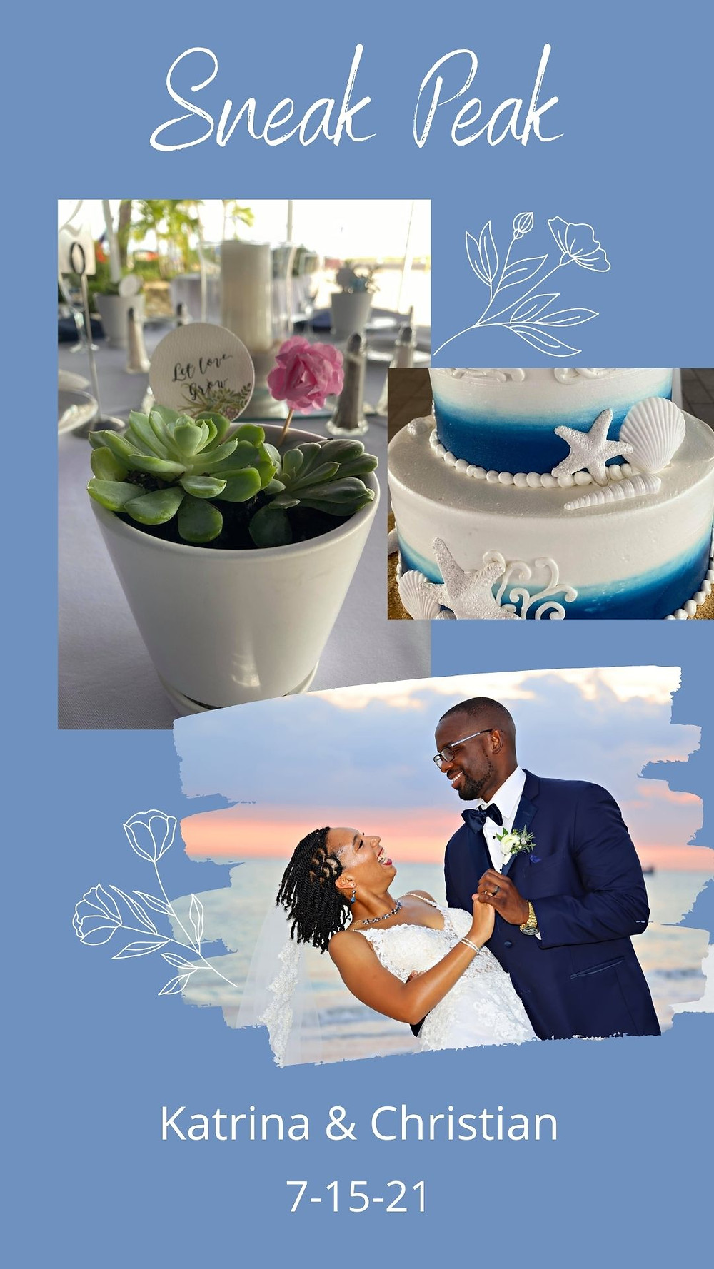Wedding Laughter-Centerpieces-Cake