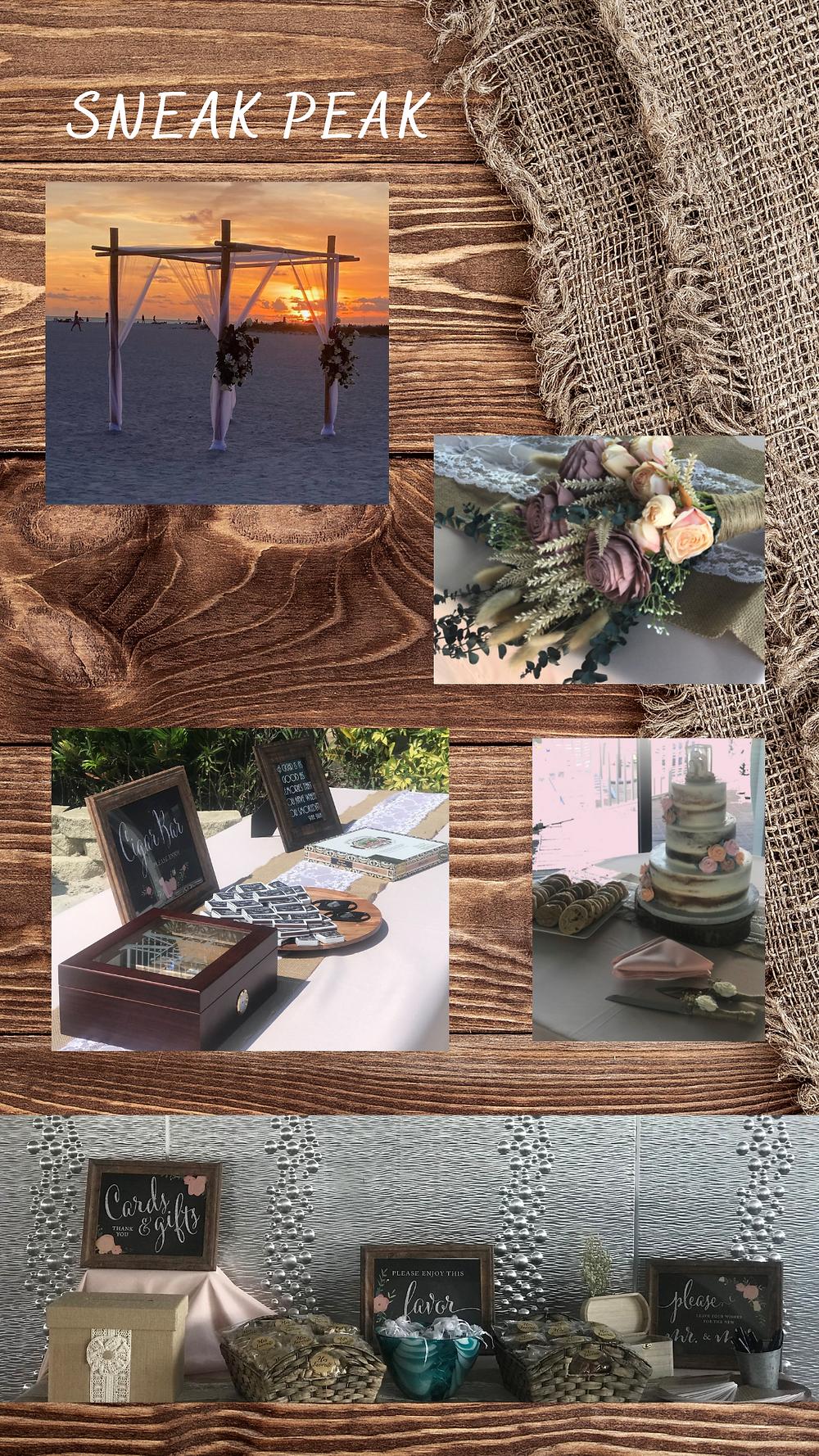 Rustic Wedding Board