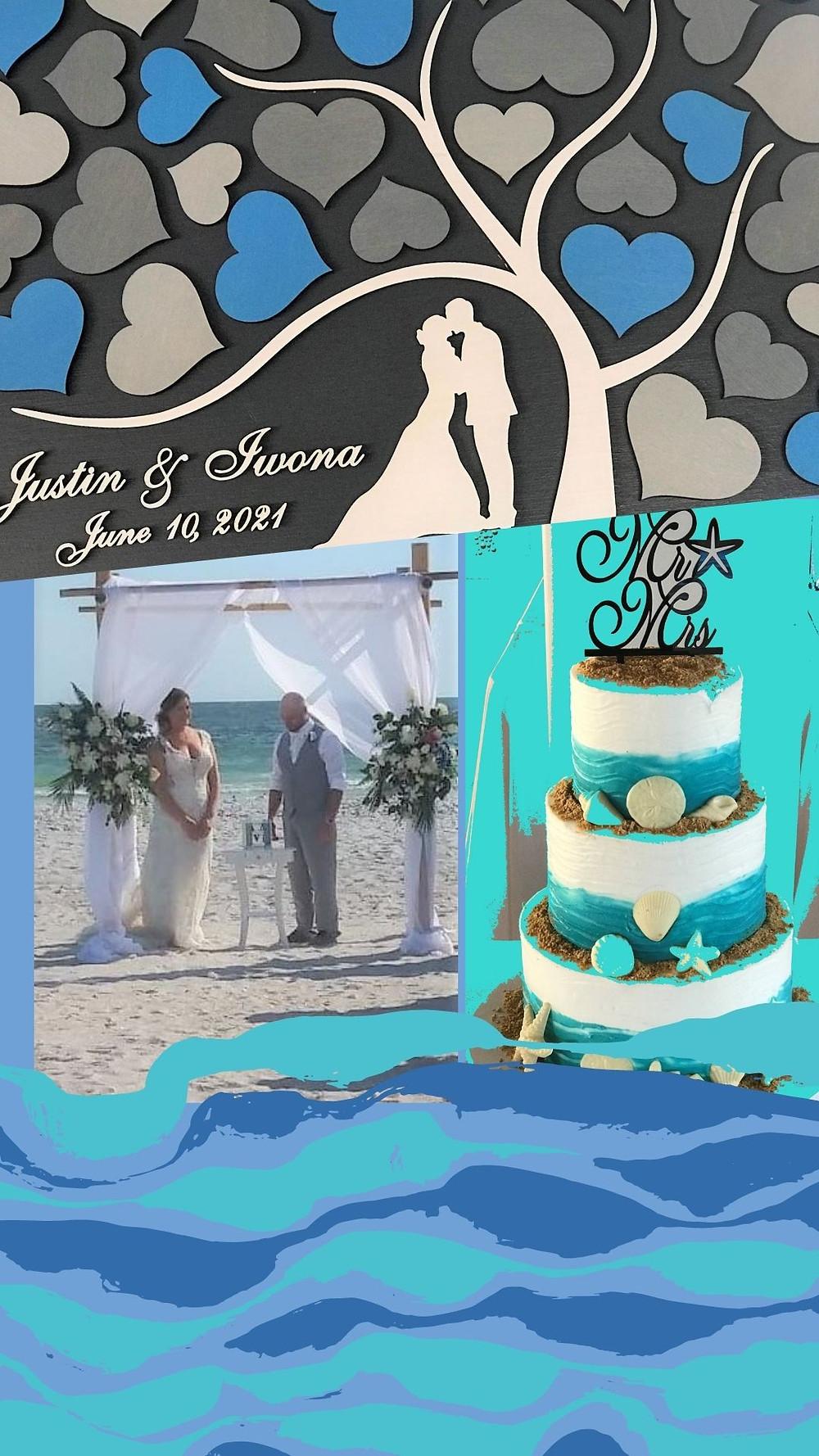 Beautiful Blue Wedding Decor for a Beach Ceremonyy