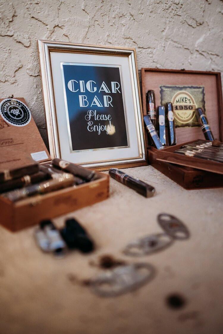 Cigar Bar- Fun Wedding Ideas