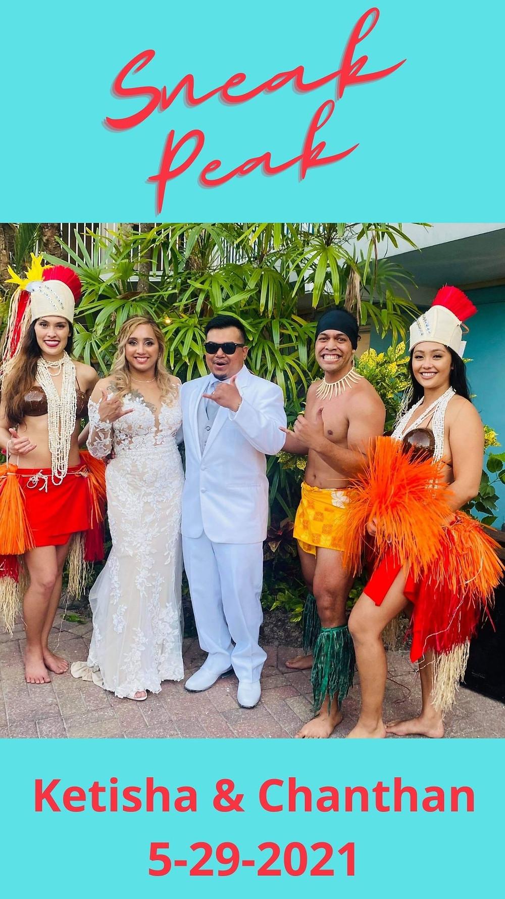 Hawaiian Destination Wedding-Dancers