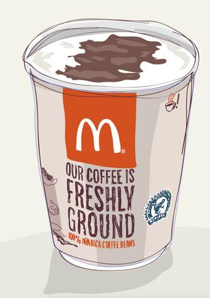 McDonald's coffee illustration