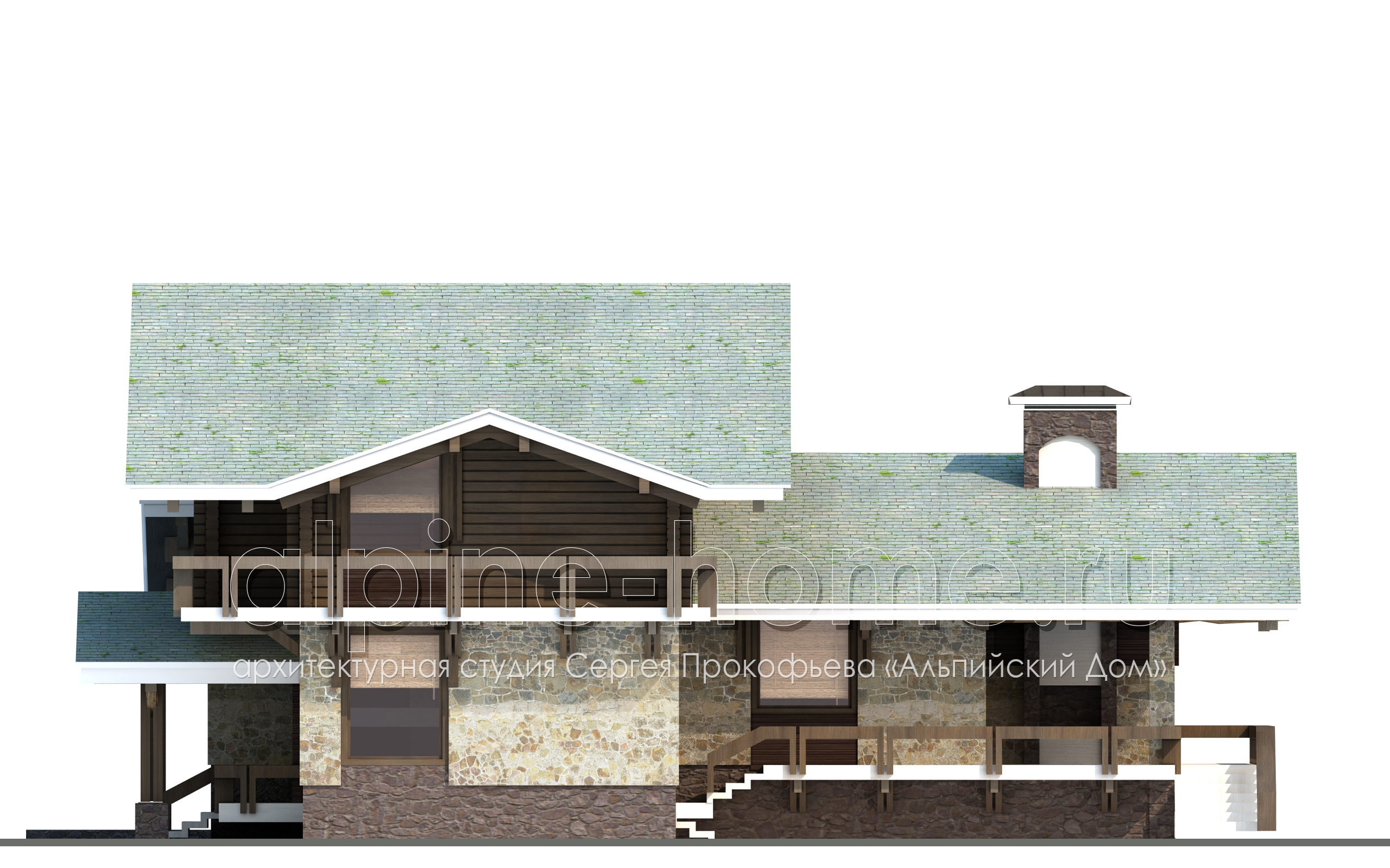 ШАЛЕ КАТРИН западный фасад
