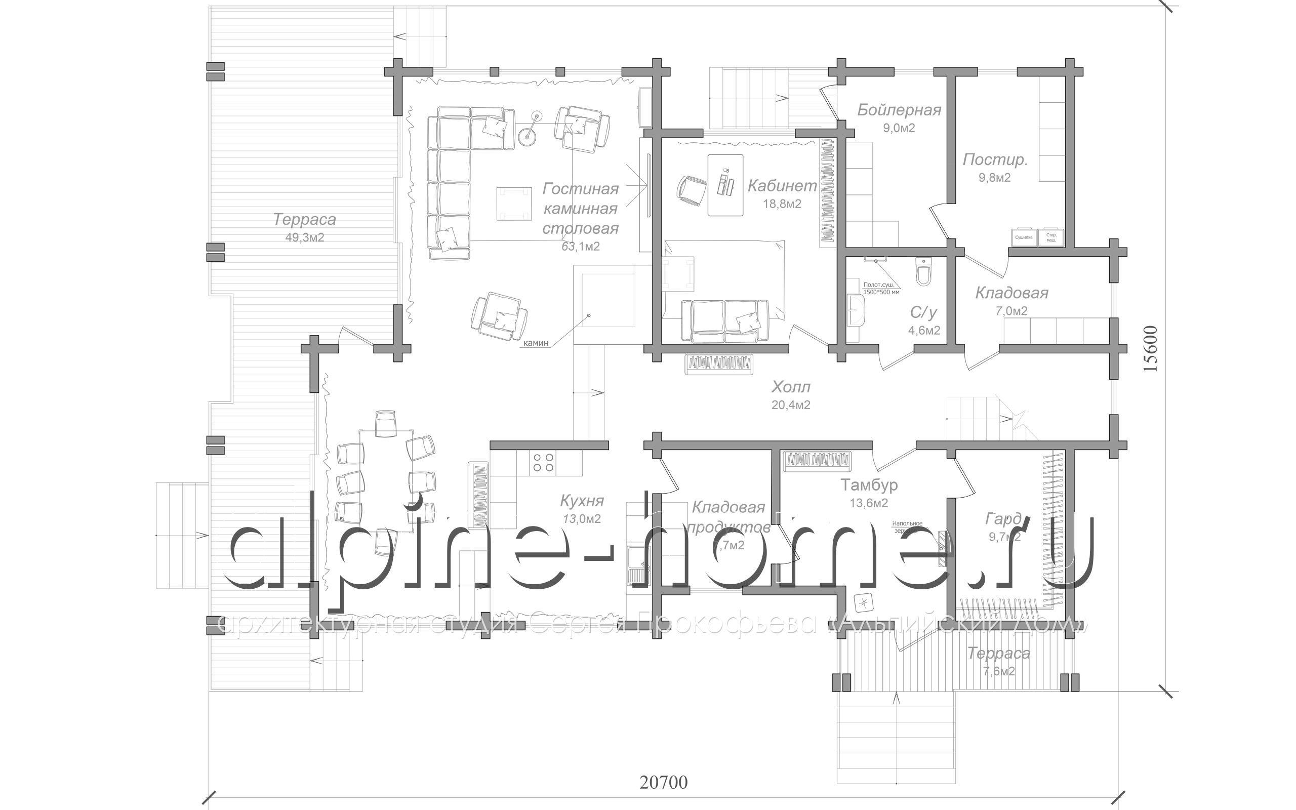 коттедж BREGO план 2-го этажа