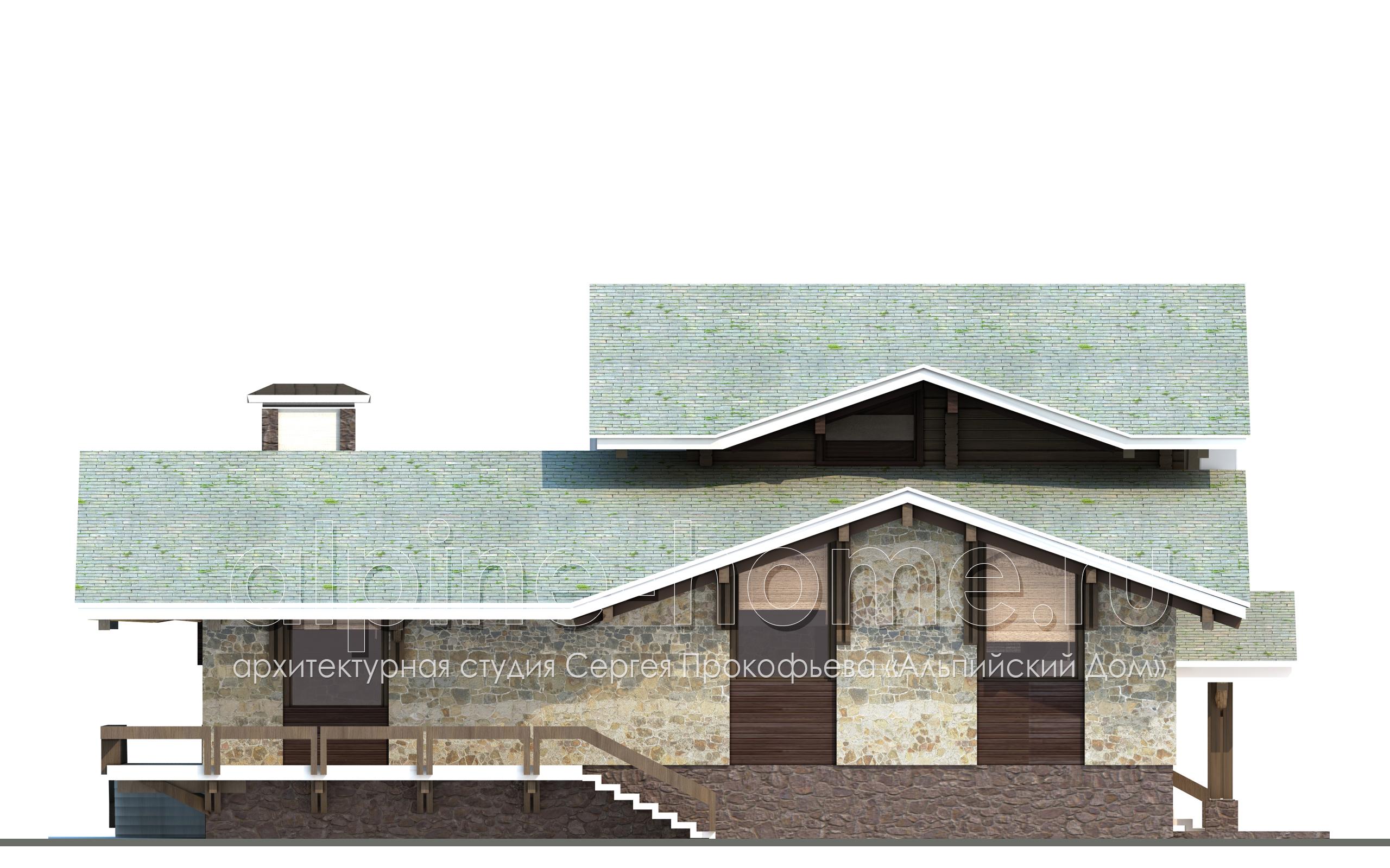 ШАЛЕ КАТРИН восточный фасад
