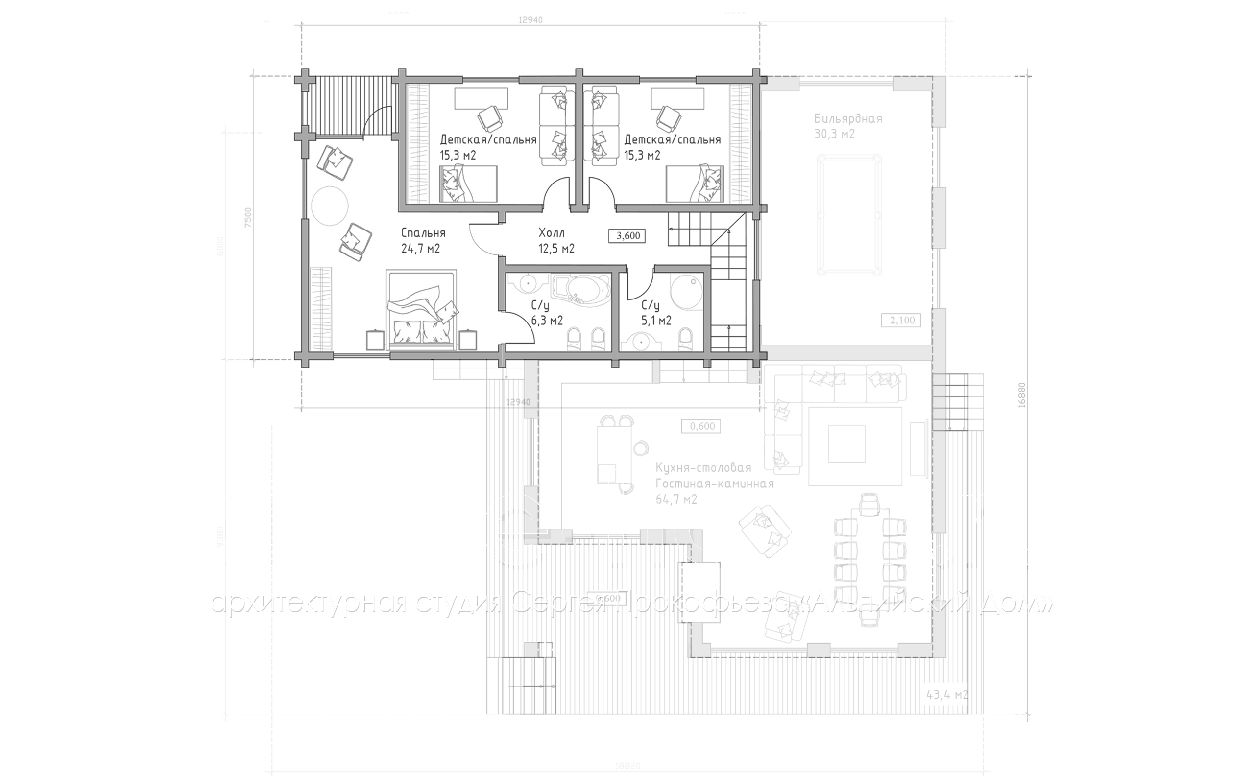 ШАЛЕ КАТРИН план 2-го этажа