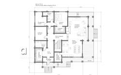 коттедж НАЙРАТ план 1-го этажа