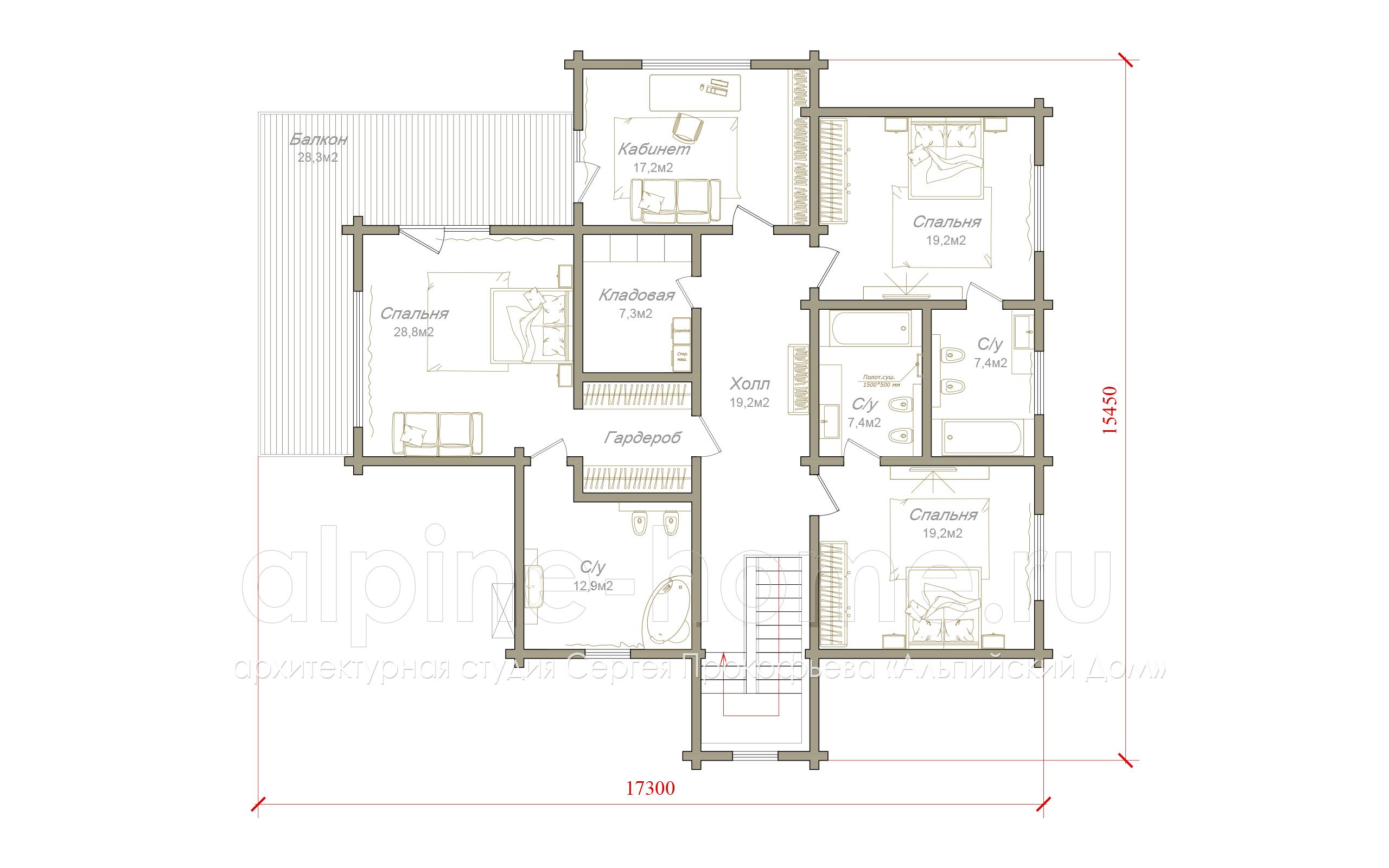 Истра 2 план 2-го этажа