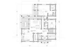 коттедж СОКОЛОВ план 1-го этажа