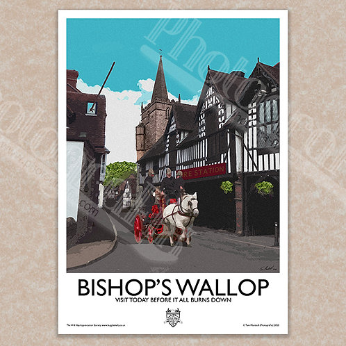 Bishop's Wallop (Where's That Fire) - Vintage Style - Poster / Magnet / Postcard