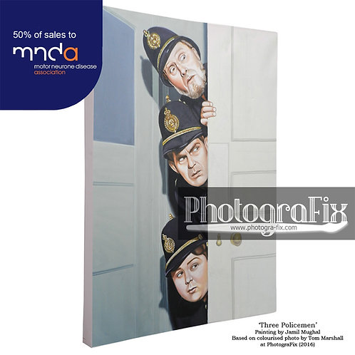 Ask a Policeman (Trio) Painting - Will Hay Ltd Ed