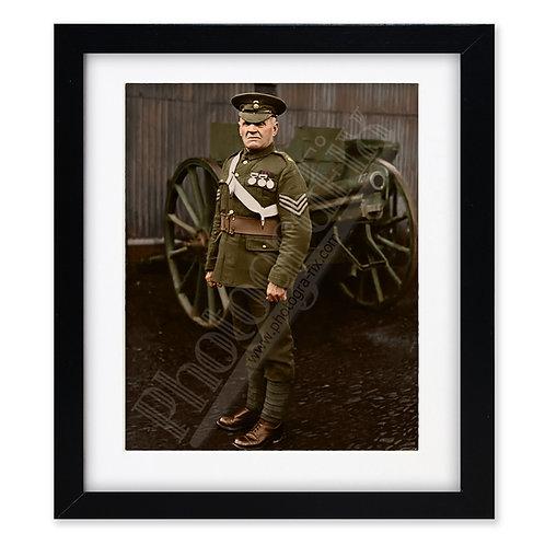 Sgt Evan Jones -  British War Hero of Rorke's Drift  - Colourised Print