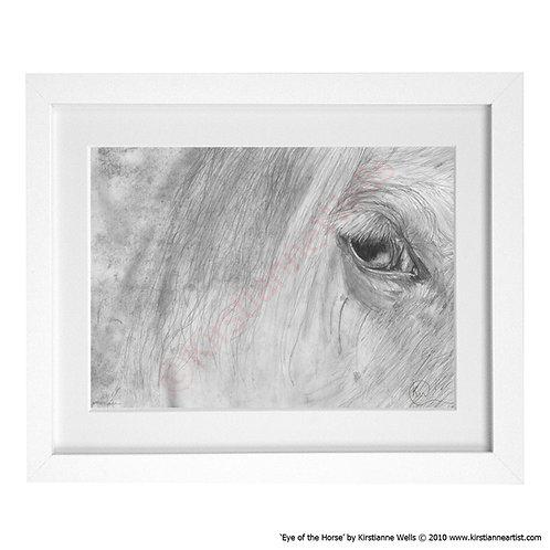 Eye of the Horse (Art Print) by Kirstianne Wells