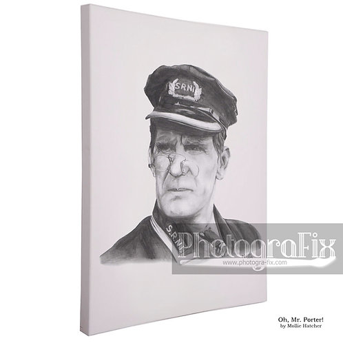 Will Hay in 'Oh, Mr. Porter! by Mollie Hatcher Canvas
