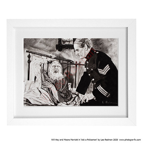 Ask a Policeman Will Hay & Moore Marriott (Art Print) by Leo Redman
