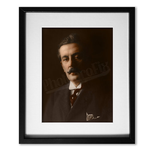 Giacomo Puccini - Colourised Photo Print