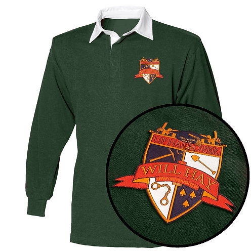 Will Hay Rugby Shirt - Embroidered Crest - 3 Colours
