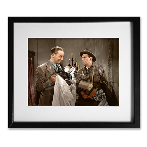 Will Hay & Claude Hulbert - Ghost of St Michaels - Colourised Print