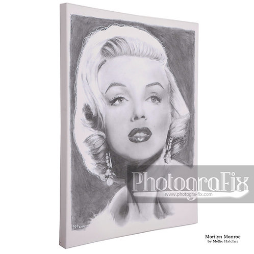 'Marilyn Monroe' by Mollie Hatcher - Canvas