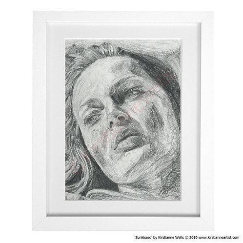 Sunkissed - Female Portrait (Art Print) by Kirstianne Wells