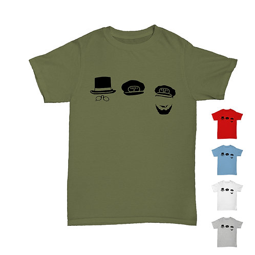 Will Hay  - Oh Mr Porter! Hat Trio Tee - 5 Colours