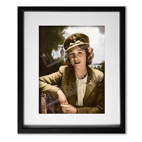 Young Princess Elizabeth in Uniform