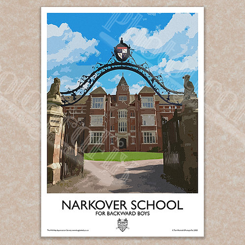 Narkover School (Will Hay) - Vintage Style - Poster / Magnet / Postcard