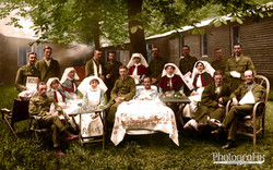 Irish Soldiers and Nurses, 1917
