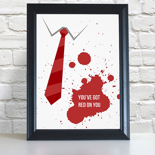 Shaun of the Dead 'Red On You' Poster