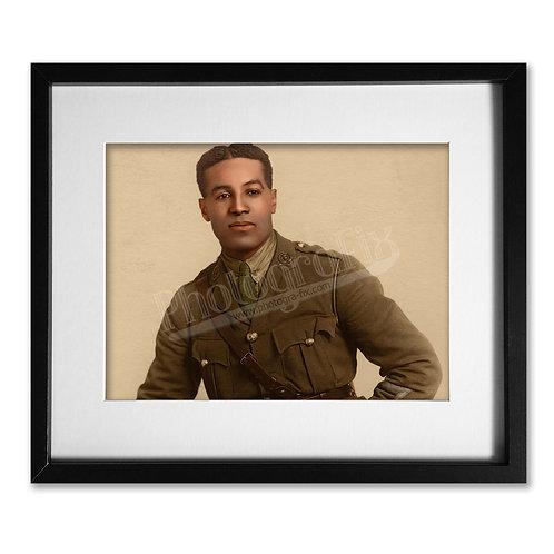 Walter Tull - Black British Footballer and War Hero  - Colourised Print