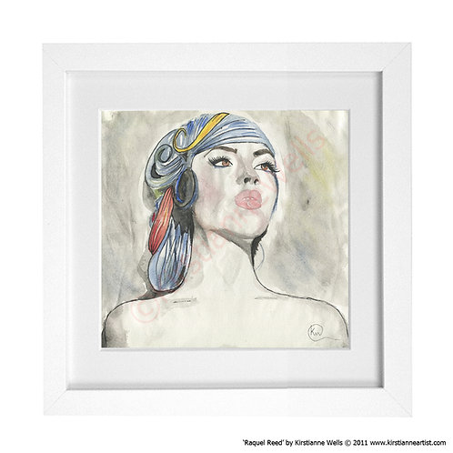 Raquel Reed Watercolour Portrait (Art Print) by Kirstianne Wells