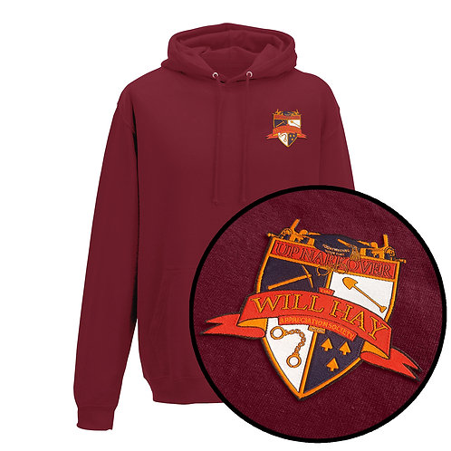 Will Hay Hoodie - Embroidered Crest - 5 Colours