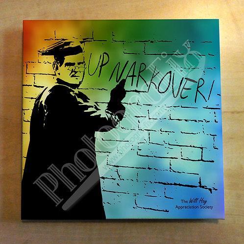Will Hay 'Banksy' Up Narkover! Graffiti Canvas