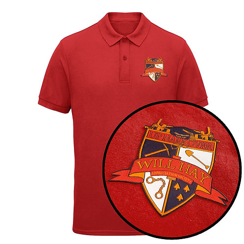 Will Hay Polo Shirt - Embroidered Crest - 4 Colours