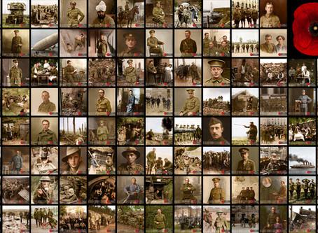 100 Colourised Photos of WW1 for the 1918-2018 Centenary