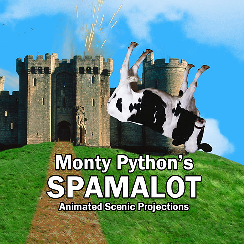 Monty Python's Spamalot: Animated Scenic Projections