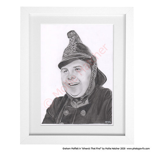 Graham Moffatt in 'Where's That Fire?' (Art Print) by Mollie Hatcher