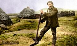 Crofter on the Isle of Tirij (Tiree)