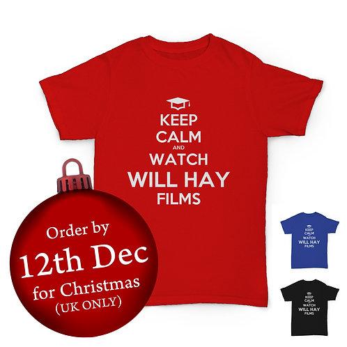 Will Hay Tee - Keep Calm - Lockdown T-Shirt - 3 Colours