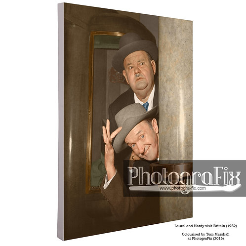 Laurel and Hardy Canvas (British Tour 1952) Canvas
