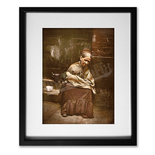 Poor Woman 'Crawler' with Baby (Victorian London 1877)