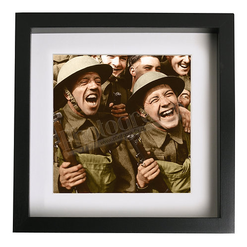British Troops Watch ENSA Concert, WW2 - Colourised Print