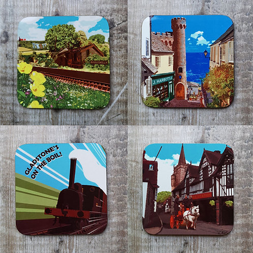 Will Hay Wooden Coasters - 4 Designs