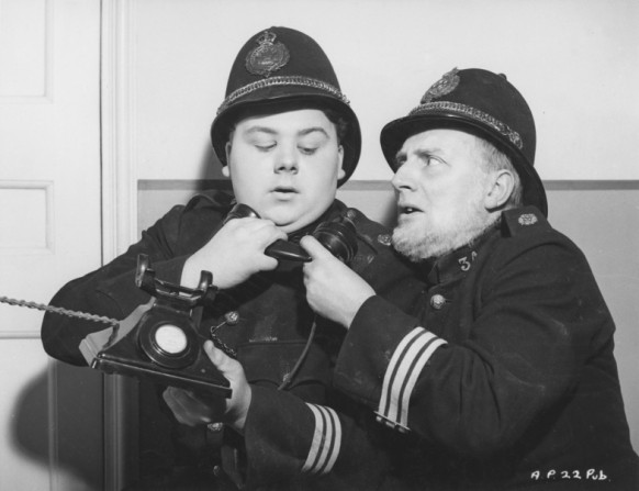 Graham Moffatt and Moore Marriott in 'Ask a Policeman' (1939)