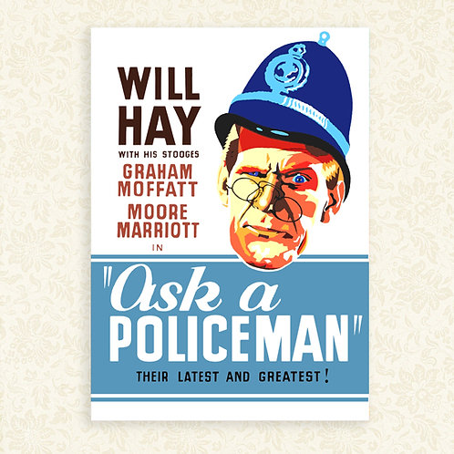 Ask a Policeman (Will Hay) Poster