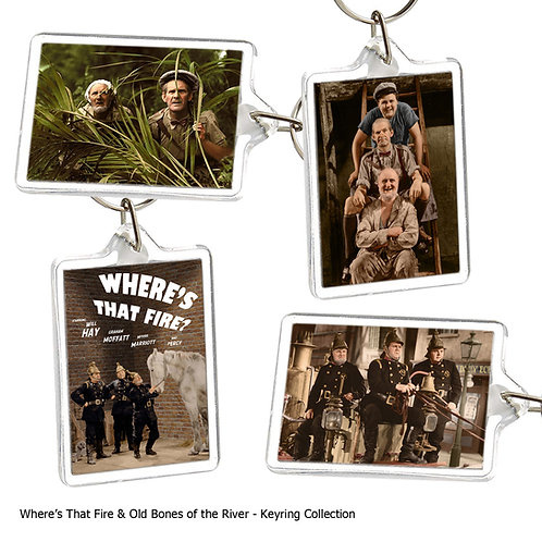 Where's That Fire & Old Bones (Will Hay) Keyring Collection